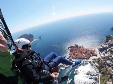 Paragliding in Budva Montenegro
